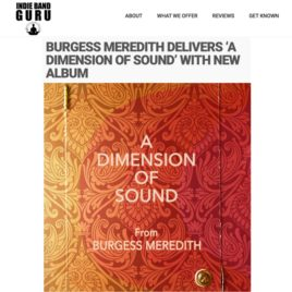 Indie Band Guru Burgess Meredith band press hit