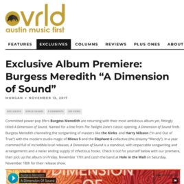 """Burgess Meredith """"A Dimension of Sound"""" premiere OVRLD music publicity"""