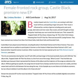 Castle Black EP Trapped Under All We Know premeire