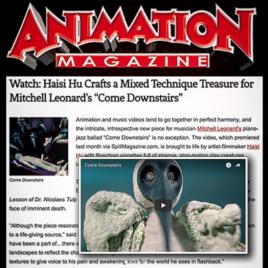 "Animation Magazine ""Come Downstairs"" Mitchell Leonard and Haisi Hu"