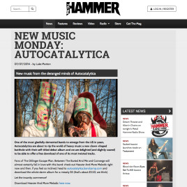 Autocatalytica interview printed via Metal Hammer