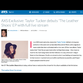 """Taylor Tucker """"Leather Shoes"""" press hit"""