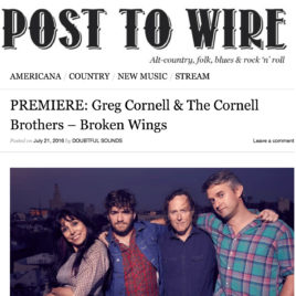 """Greg Cornell and the Cornell Brothers """"Broken Wings"""""""