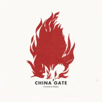 China Gate Covered In Flames single art