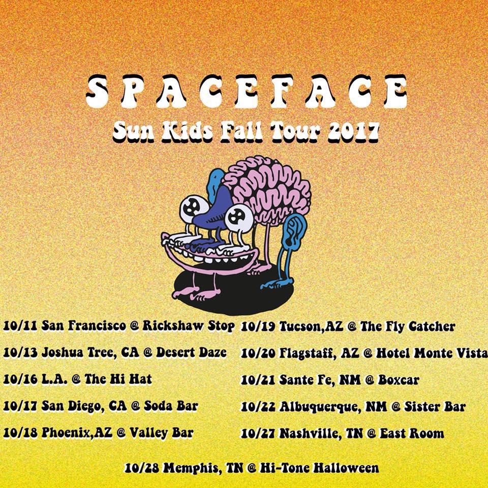 Spaceface Sun Kids Fall Tour 2017 poster